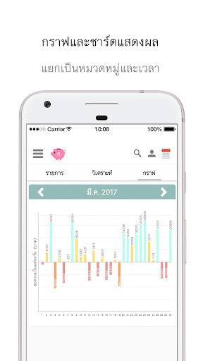 Money Book บันทึกรายรับรายจ่าย app for Android screenshot