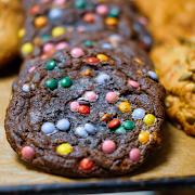 Triple Chocolate Rainbow Cookie!