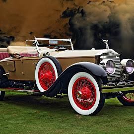 Silver Ghost by JEFFREY LORBER - Transportation Automobiles ( rust 'n chrome, roadster, lorberphoto, rolls royce, rolls, 1925 )