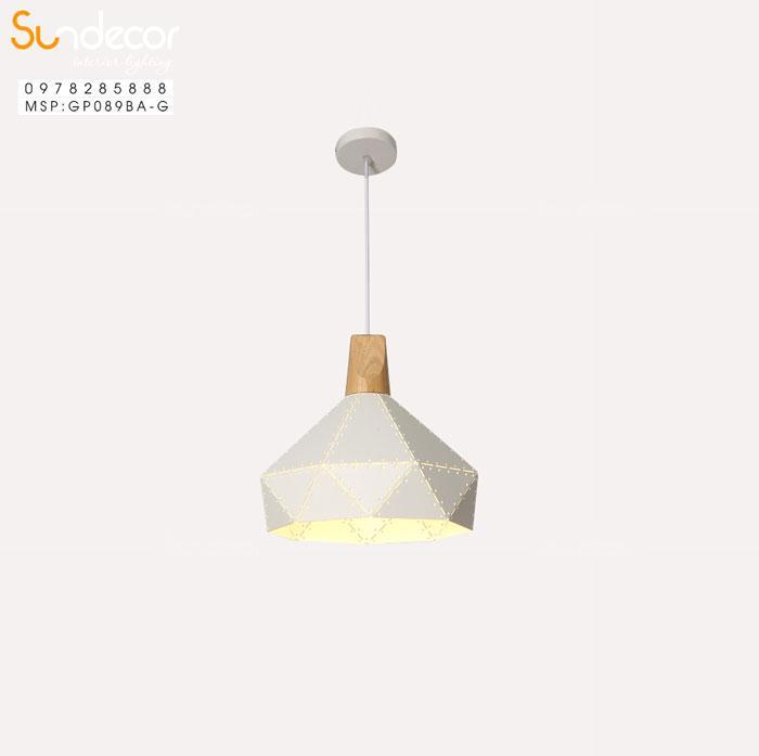 Đèn Thả Kim Cương Đui Gỗ Ghi GP089BA-G