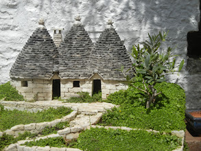Photo: Pretty cool mini-trullo. (Chris did not by this one, it was just a little too big to bring home.)