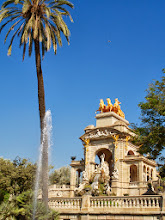 Photo: The fountain in Parc de Ciutadella had been redone since we'd been away. It looks simply beautiful!