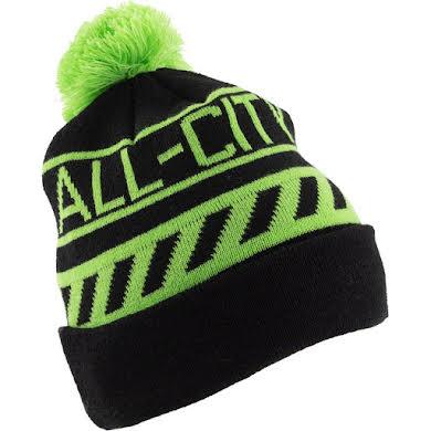 All-City Sleddin' Hat: Black/Lime Green