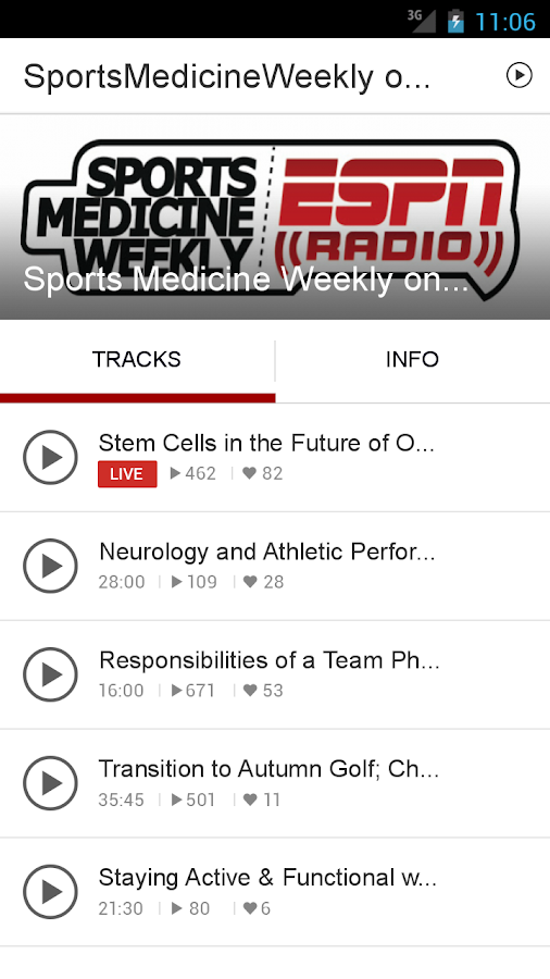SportsMedicineWeekly on ESPN- screenshot