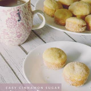 Easy Cinnamon Sugar Doughnut Holes.