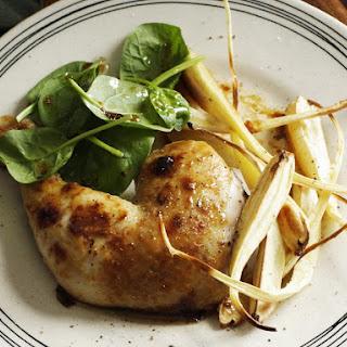 Mustard Chicken with Glazed Parsnips