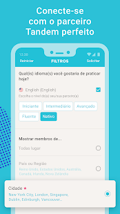 Tandem: intercâmbio de idiomas com estrangeiros Screenshot