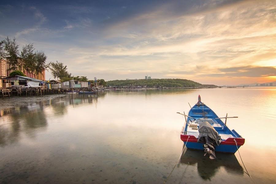 Sunrise - Dove Jetty by Nixȫn Ɲixon - Transportation Boats ( sunrise - dove jetty )
