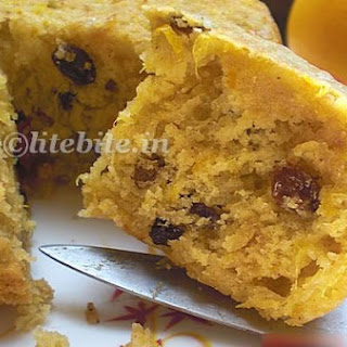 Navel Orange and Honey Egg Less Cake.