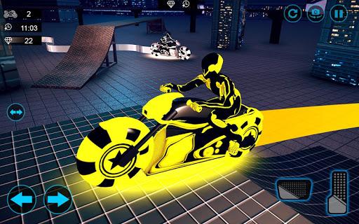 moto light trail stunt:racing battle screenshot 1