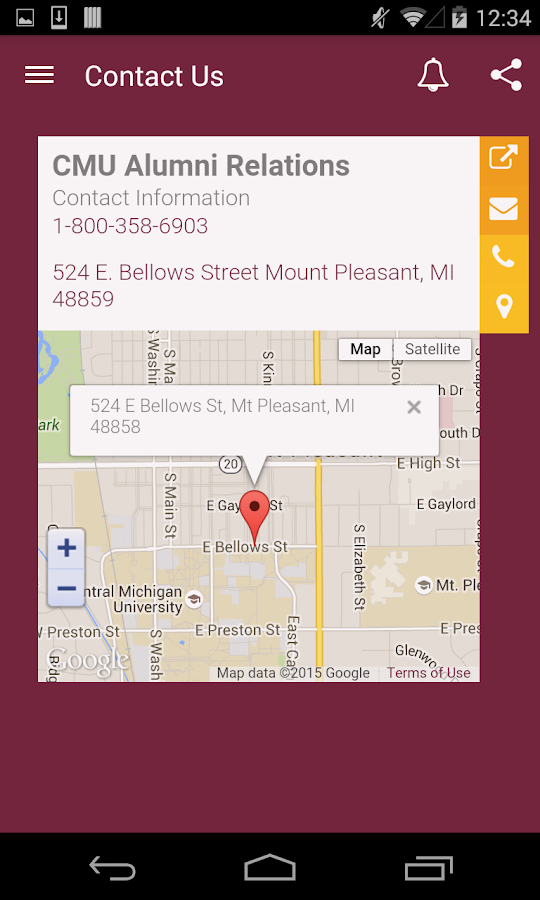 CMU Alumni- screenshot