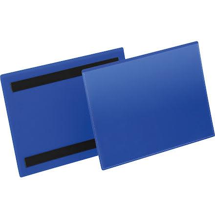 Plastficka A5L magnetisk blå