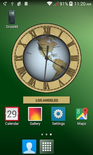 Earth Clock Wallpaper
