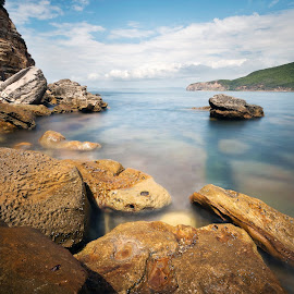 Waterscape by Geoffrey Wols - Landscapes Waterscapes ( sand, rocks, nature, maitland bay, water,  )