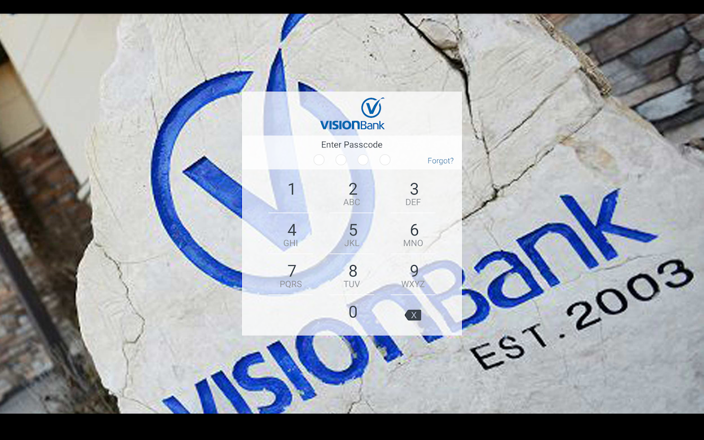 VISIONBank- screenshot