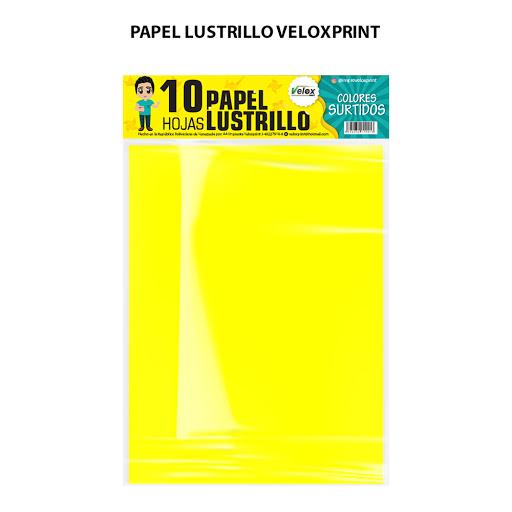 papel lustrillo veloxprint surtido 10und