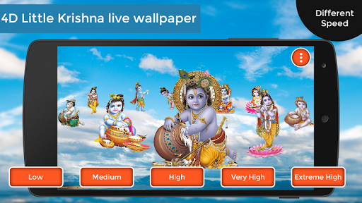 download 4d little krishna live wallpaper google play softwares