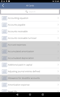 Learn Accounting Flashcards- screenshot thumbnail
