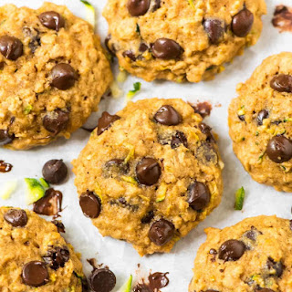 Zucchini Cookies with Chocolate Chips and Oatmeal.