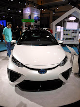 Photo: The Toyota Fuel Cell concept car. We saw a few of these. Interesting. Hydrogen powered!