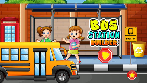 Bus Station Builder: Road Construction Game android2mod screenshots 1