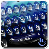 Live 3D Blue Water Keyboard Theme