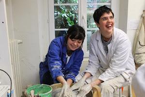 projet arche a brest atelier poterie avec personnes handicapées mentales