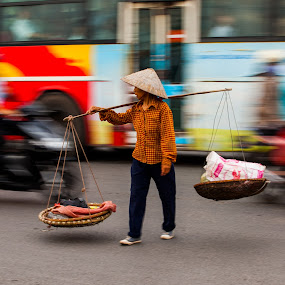 ability by Sorin Tanase - City,  Street & Park  Street Scenes ( hanoy, street, vietnam, morning, ability )