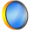 Mirror with front flashlight icon
