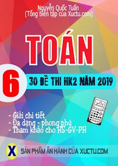 30 đề thi Học kì 2 môn Toán 6-Năm học 2019