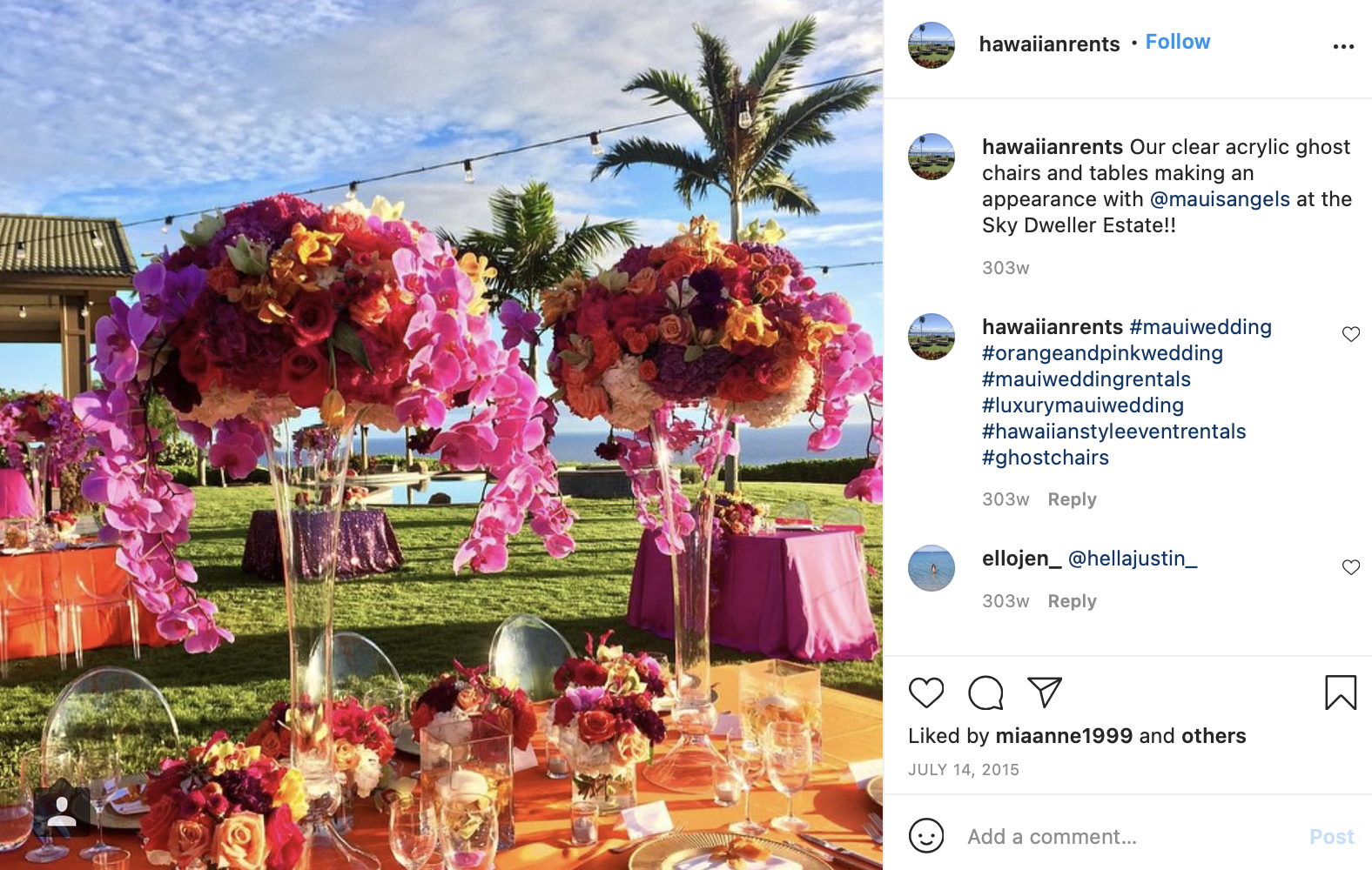 bold colors for wedding table