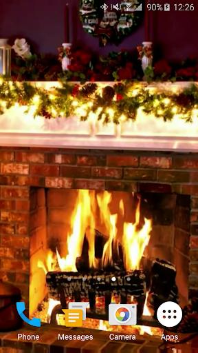 Christmas Fireplace LWP 1.0 screenshots 2
