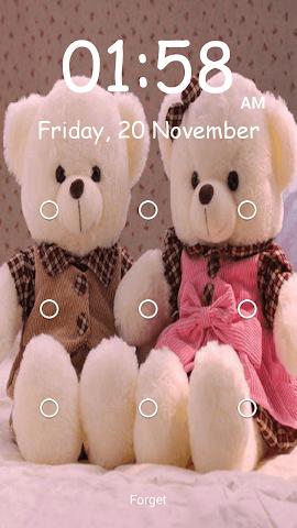 android Teddy Bear Pattern-Bildschirm Screenshot 0
