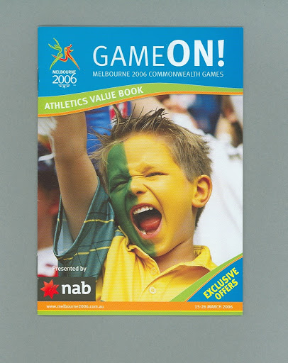 "Booklet - ""Game On! Athletics Value book"" 2006 Melbourne Commonwealth Games"