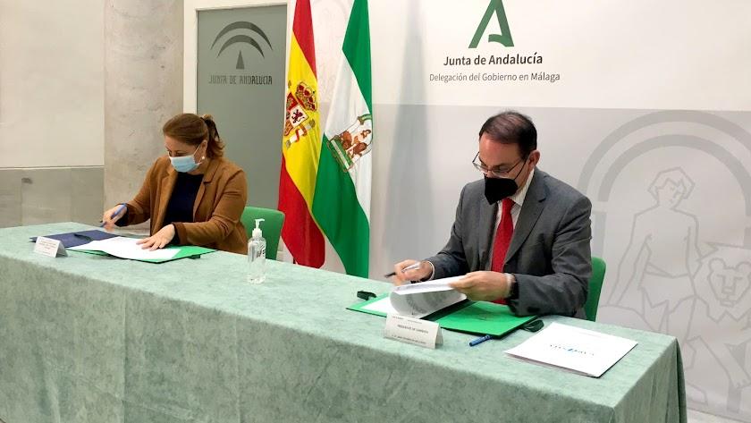 El convenio suscrito entre la Junta y Garántia persigue facilitar la constitución de las garantías previas que exige la Unión Europea