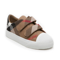 Burberry Check Canvas Trainer VELCRO