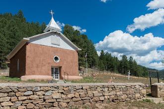 Photo: Nuestra Señora de Guadalupe in San Antonio-El Macho Church, Pecos, NM