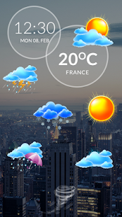 Weather & Clock Widget Android - náhled
