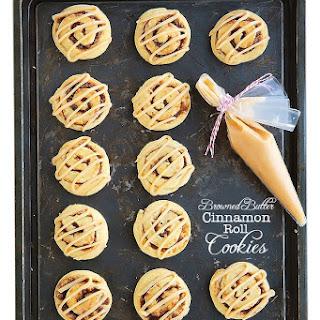 Browned Butter Cinnamon Roll Cookies