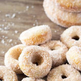 Mini Cinnamon Sugar Doughnuts.