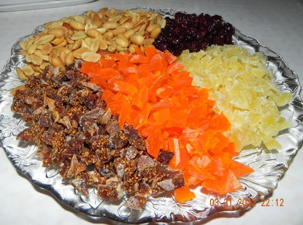 Stir in raisins, figs and nuts. (I also use other dried fruits like pineapple,...