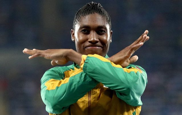 Caster Semenya celebrates winning gold. File Picture: REUTERS/STOYAN NENOV
