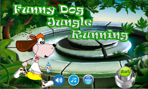 Funny Dog Jungle Running
