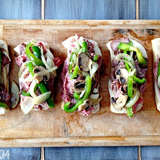 Quick Philly Cheesesteak Sandwiches.