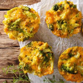 Turkey Quiche Muffins with Broccoli.