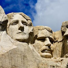 The Presidents by Jorge Villalba - Buildings & Architecture Statues & Monuments ( washington, presidents, memorial, rosevelt, jefferson, mt. rushmore, panorama, granite )