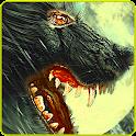 wolf hunter sniper shooting icon