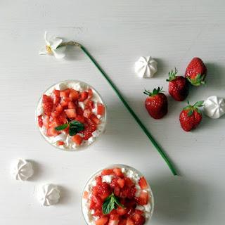 Strawberry Meringue Cups