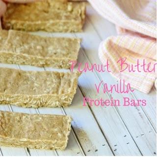 Peanut Butter Vanilla Protein Bars.