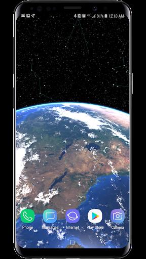 earth & moon  parallax 3d live live wallpaper screenshot 3